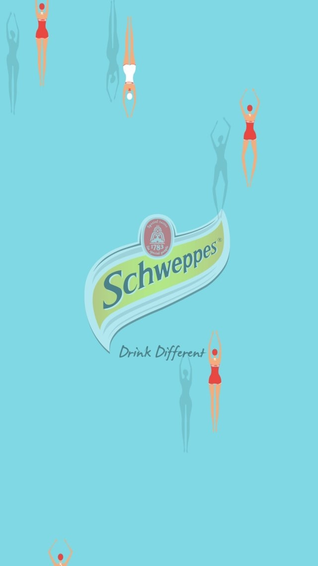 moving poster for schweppes\drink different